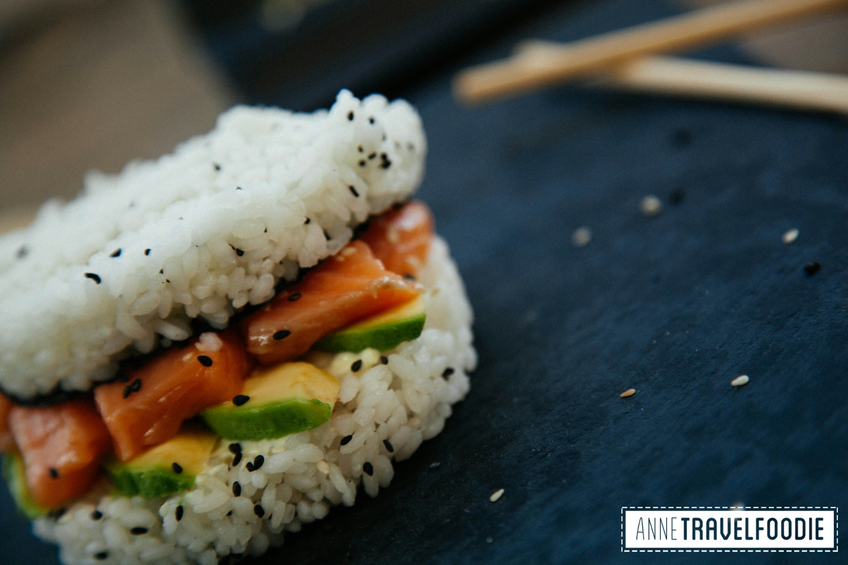 New recipe: Sushi Burger - Anne Travel Foodie